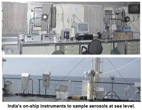 India on-ship instruments